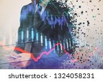 double exposure of businessman... | Shutterstock . vector #1324058231