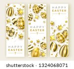 three easter vertical banners... | Shutterstock .eps vector #1324068071