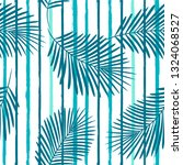 tropical pattern  palm leaves... | Shutterstock .eps vector #1324068527