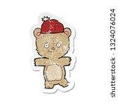 retro distressed sticker of a...   Shutterstock .eps vector #1324076024