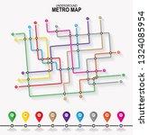 subway tube map. city... | Shutterstock .eps vector #1324085954