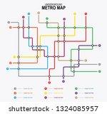 subway tube map. city... | Shutterstock .eps vector #1324085957