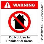 do not use inside home icon   ... | Shutterstock . vector #1324090304