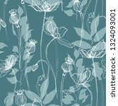 seamless pattern of buds ...   Shutterstock . vector #1324093001