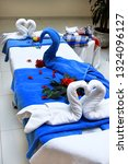 swans made from towels on the... | Shutterstock . vector #1324096127