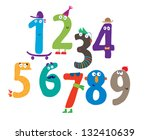 number | Shutterstock .eps vector #132410639
