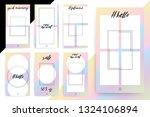 set of 7 bright editable... | Shutterstock .eps vector #1324106894