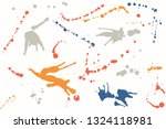hand drawn set of colorful ink... | Shutterstock .eps vector #1324118981