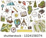 set of geography symbols.... | Shutterstock .eps vector #1324158374