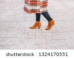 fashion blogger outfit details. ... | Shutterstock . vector #1324170551
