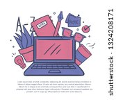 vector illustration with...   Shutterstock .eps vector #1324208171