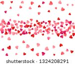 ruby red flying hearts bright... | Shutterstock .eps vector #1324208291