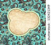 vintage ornamental template | Shutterstock .eps vector #132421349