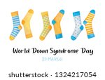 world down syndrome day banner... | Shutterstock . vector #1324217054
