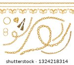 hand drawn set of the baroque... | Shutterstock .eps vector #1324218314