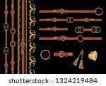 hand drawn set of the baroque... | Shutterstock .eps vector #1324219484