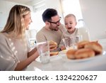 happy family of mother  father... | Shutterstock . vector #1324220627