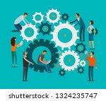 team work concept. business ...   Shutterstock .eps vector #1324235747
