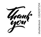 thank you. hand drawn creative...   Shutterstock .eps vector #1324237154
