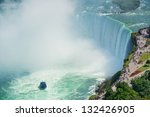 Boat And Horseshoe Falls From...