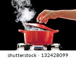cooking in the pot | Shutterstock . vector #132428099