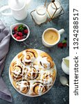 home made cinnamon buns with... | Shutterstock . vector #1324288517