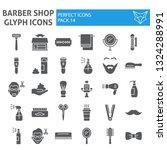 barber shop glyph icon set ... | Shutterstock .eps vector #1324288991