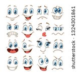 face expression set. vector... | Shutterstock .eps vector #1324301861