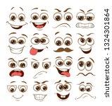 face expression set. vector... | Shutterstock .eps vector #1324301864