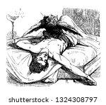 in demonic epidemics king of... | Shutterstock .eps vector #1324308797