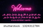 neon handwritten english... | Shutterstock .eps vector #1324312784