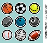 sport ball icons | Shutterstock .eps vector #132431909