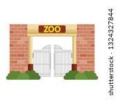 entrance facade of zoo | Shutterstock .eps vector #1324327844