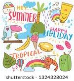 summer kawaii doodle | Shutterstock .eps vector #1324328024