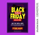 black friday flyer template... | Shutterstock .eps vector #1324329131