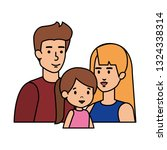 parents couple with daughter...   Shutterstock .eps vector #1324338314