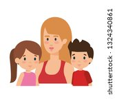 mother with daughter and son... | Shutterstock .eps vector #1324340861