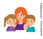 mother with daughter and son... | Shutterstock .eps vector #1324340864