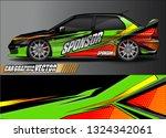 car wrap design. simple lines... | Shutterstock .eps vector #1324342061