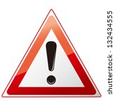 warning sign | Shutterstock .eps vector #132434555