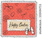 easter card. | Shutterstock .eps vector #132434711