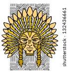 aborigine of the america....   Shutterstock . vector #132436661