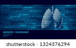 healthy lungs respiratory... | Shutterstock .eps vector #1324376294