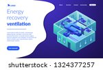indoor ventilation system pipes ...   Shutterstock .eps vector #1324377257