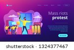 tiny people protesters against... | Shutterstock .eps vector #1324377467