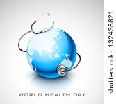world health day concept with... | Shutterstock .eps vector #132438821