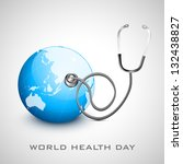 world health day concept with... | Shutterstock .eps vector #132438827