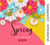 spring special sale background | Shutterstock .eps vector #1324398341