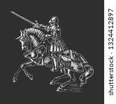 the knight on horseback. the... | Shutterstock .eps vector #1324412897