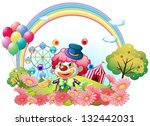 illustration of a clown in the... | Shutterstock .eps vector #132442031